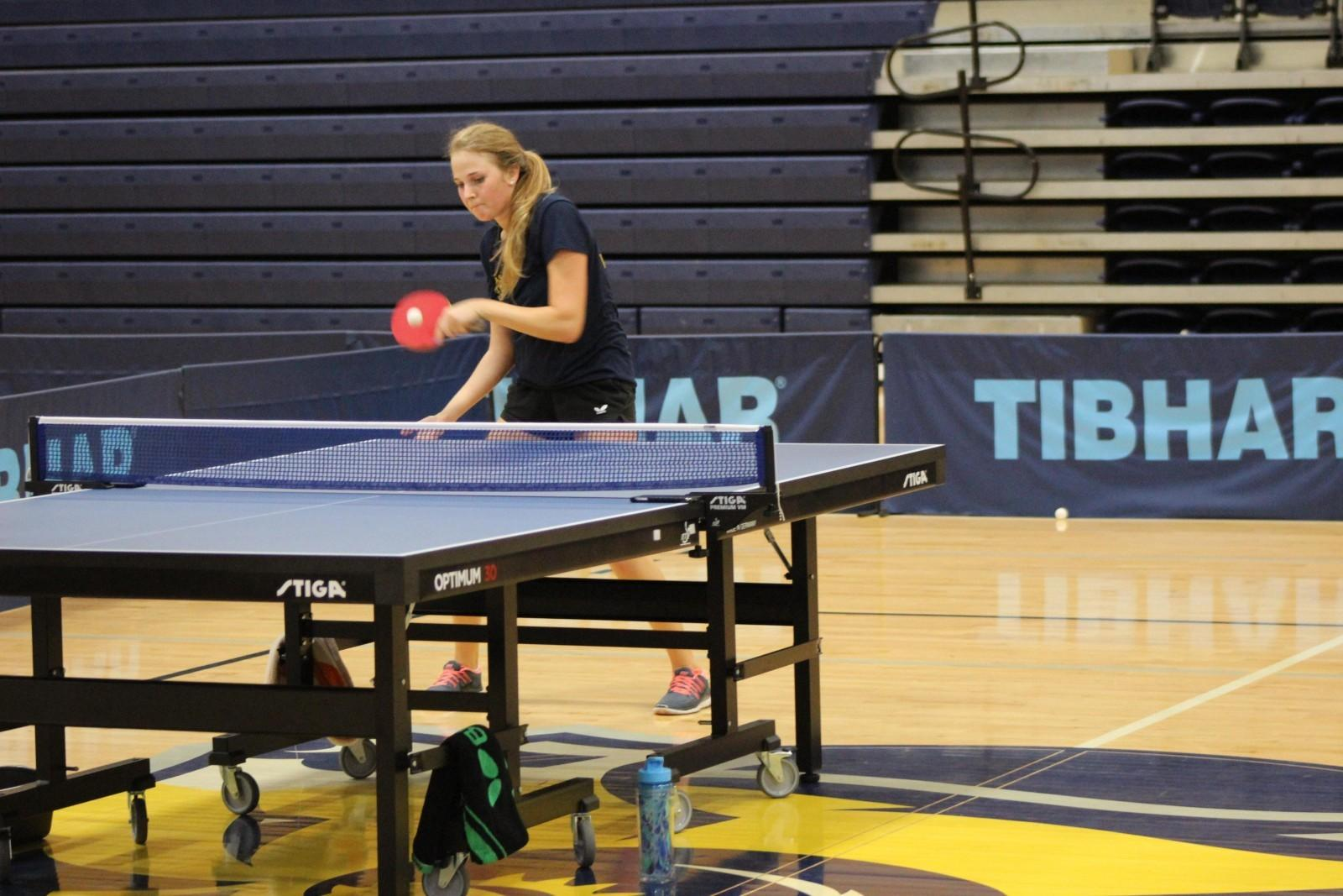 Table tennis welcomes 8 freshmen