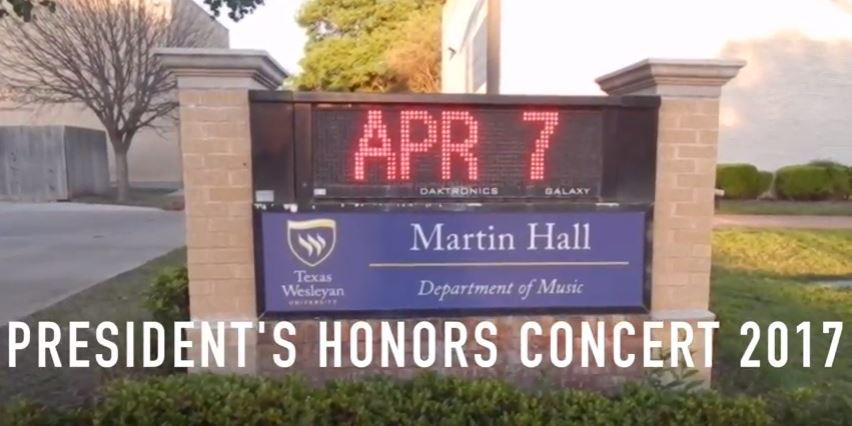 Music majors showcase their skills at President's Honor Concert
