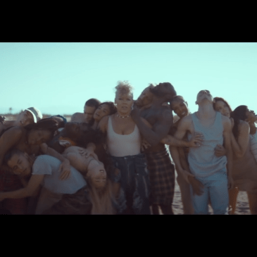 "P!nk's ""What About Us"" video focuses on big themes"