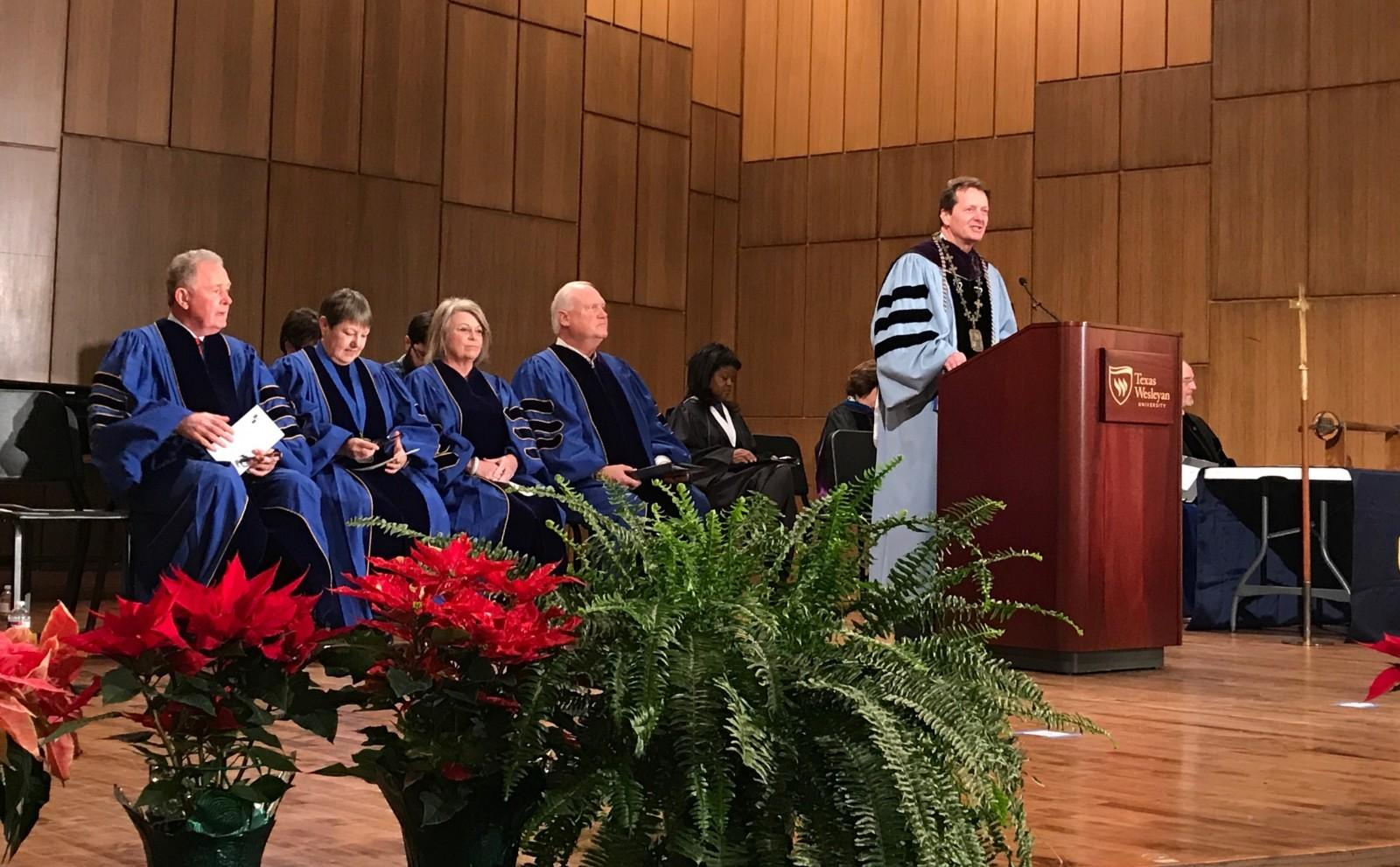 Wesleyan celebrates fall 2018 graduates at robing and hooding ceremonies