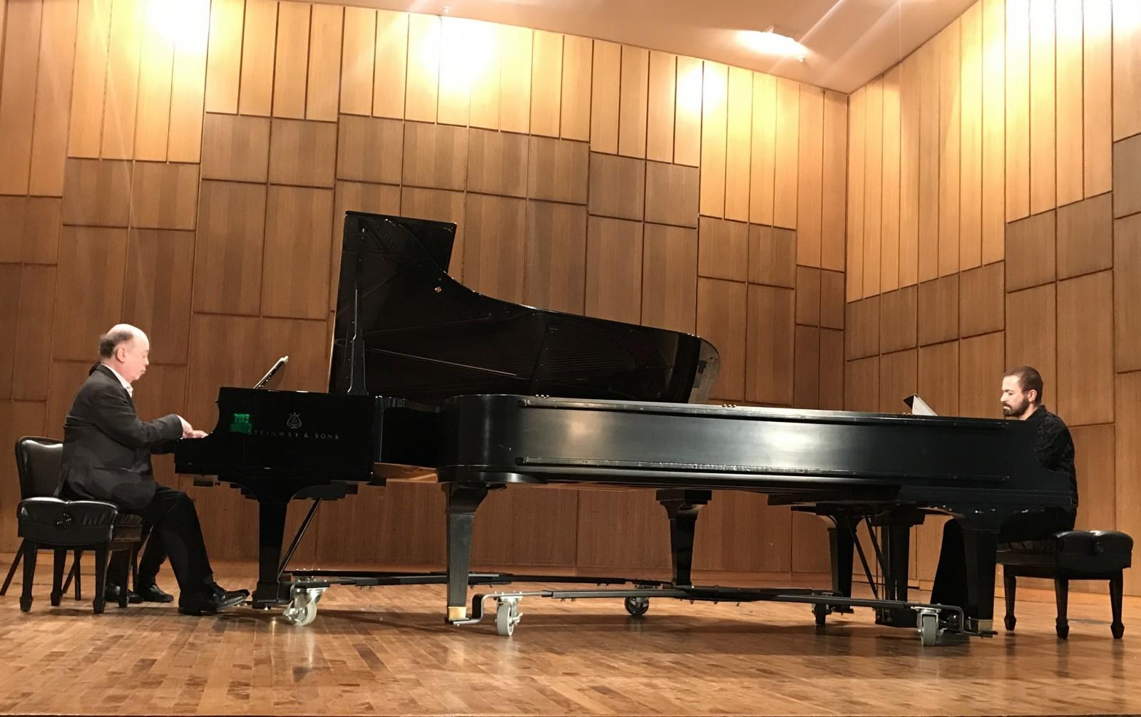 Famous pianists perform duo recital in Martin Hall