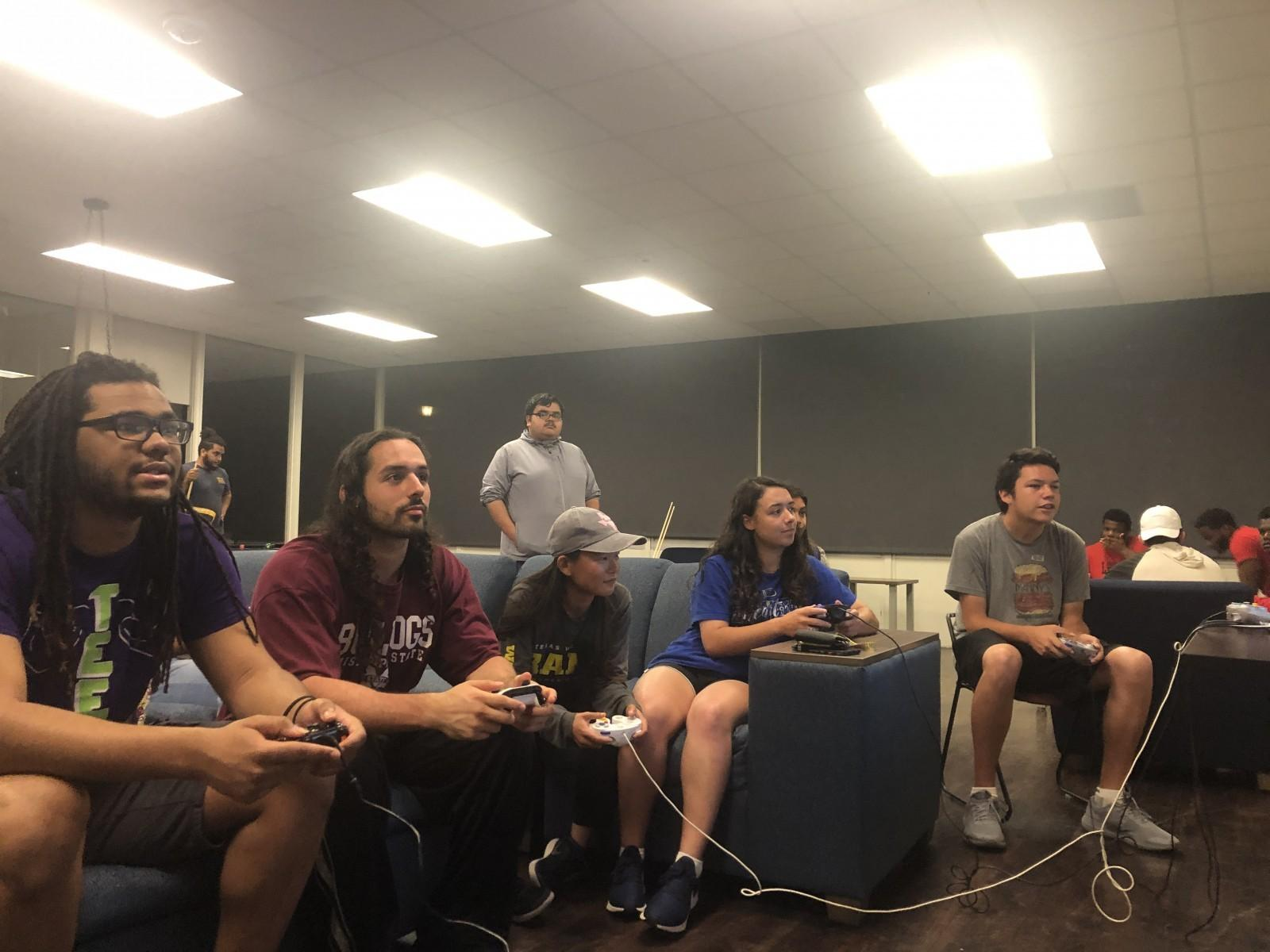 Students compete during game night