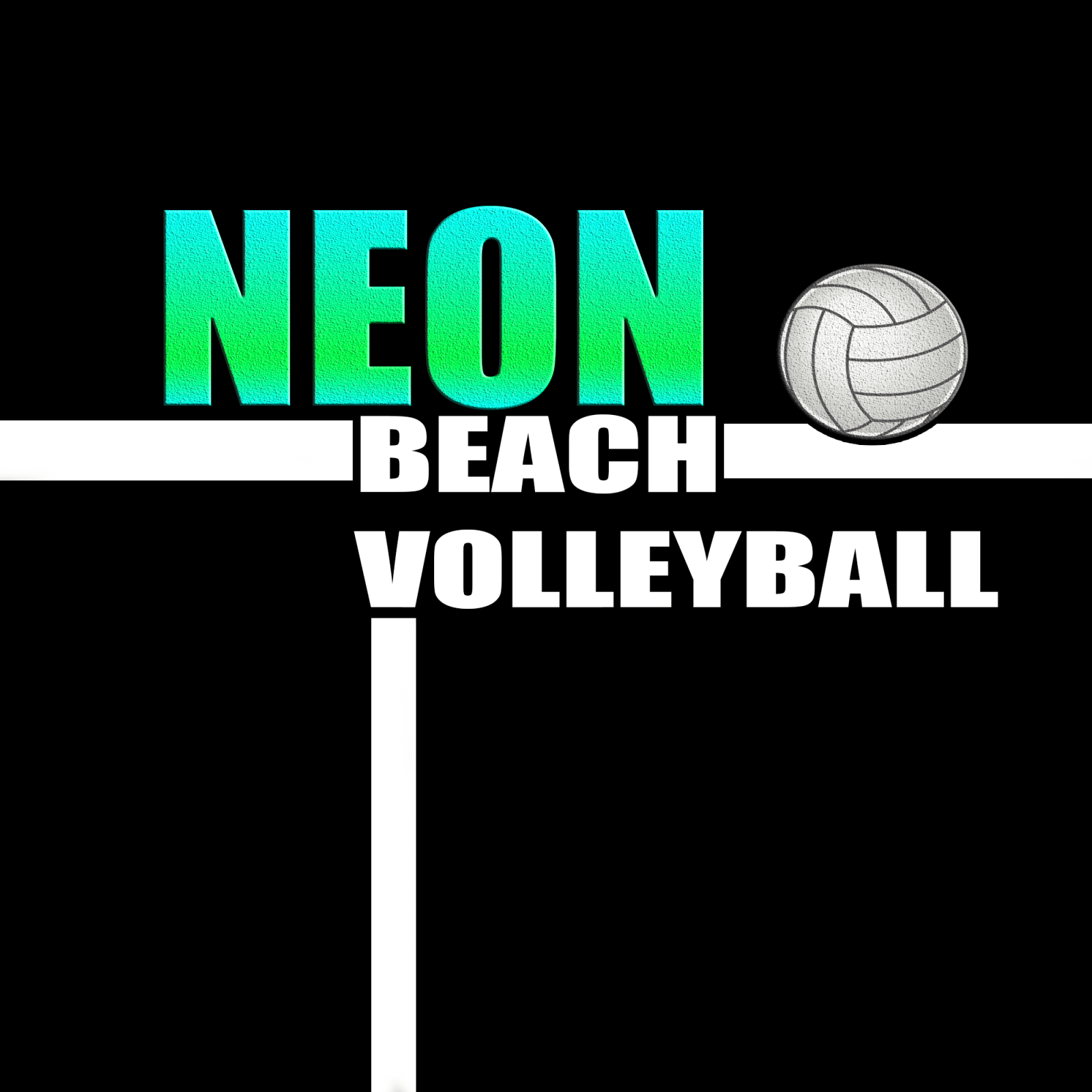 Neon volleyball event draws a small crowd
