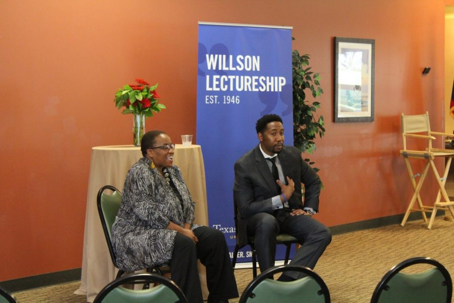 Tutu and Mandela  inspire students, faculty and staff during the Willson Lectureship. Photo by: CJ  Prater