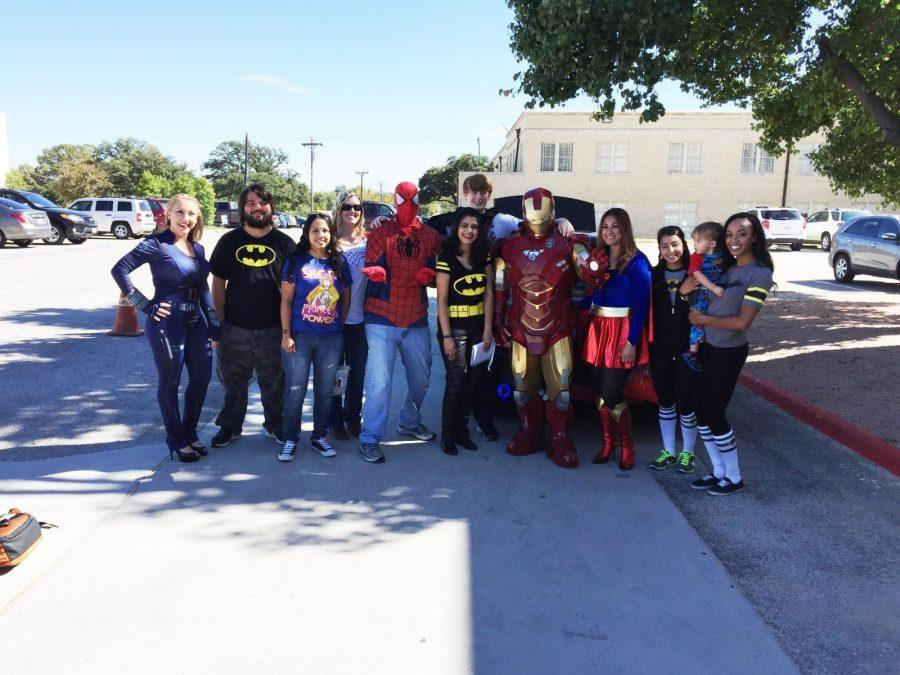 Photo+courtesy+of+Dr.+Cary+Adkinson.+Social+Justice+Club+dresses+up+as+superheros+to+give+a+voice+for+students.