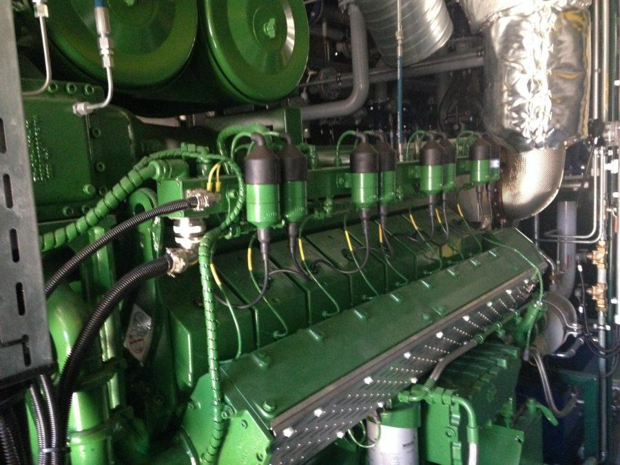 Way Companies, based out of Houston, installed the new generator.  Photograph by Dalise DeVos.