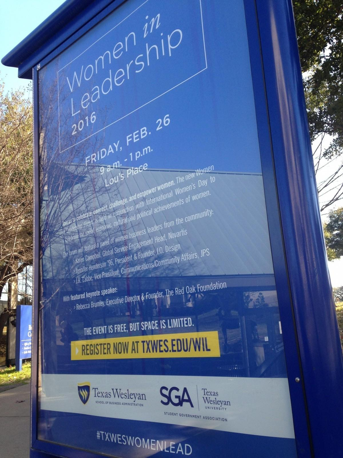 SGA helps fund Women in Leadership Forum