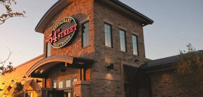 54th Street Restaurant and Drafthouse, located in the Alliance shopping center in Fort Worth, offers 54 beers on tap, as well as basic bar grub.