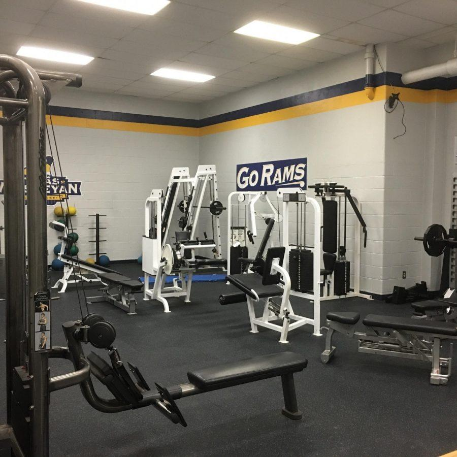 The weight room for all athletes in the Sid W. Richardson Center.