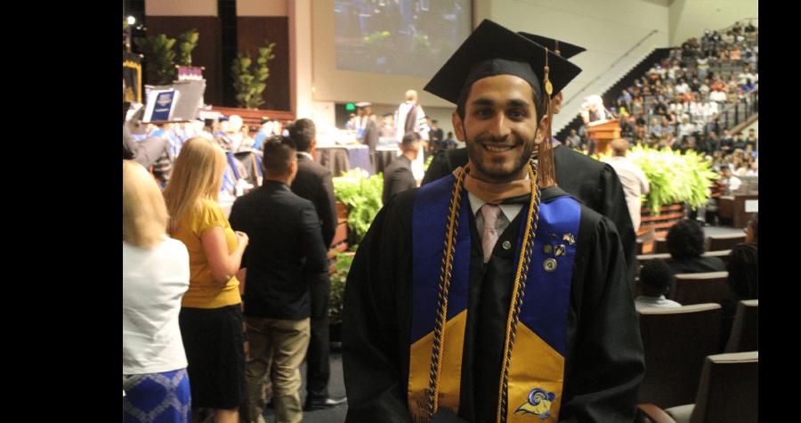 Hafidh Alghussein graduates from Texas Wesleyan on Saturday.