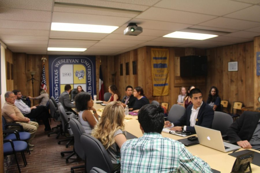 The SGA meets every week on Friday at 2:30 p.m. in the Brown-Lupton Campus Center.