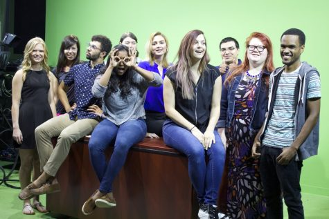 The Rambler Integrated Media Group staff plans to have a fun and productive semester. (Photo by Dr. Kay Colley)