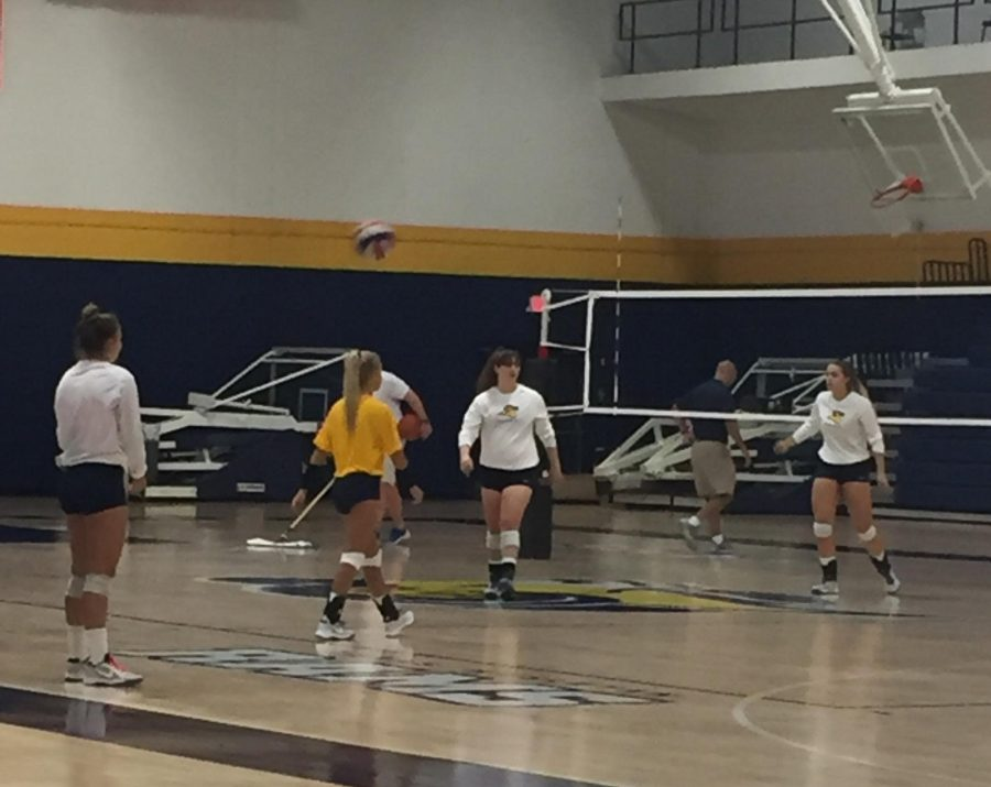 The Lady Rams practice last week. Photo by Cheyan Fite