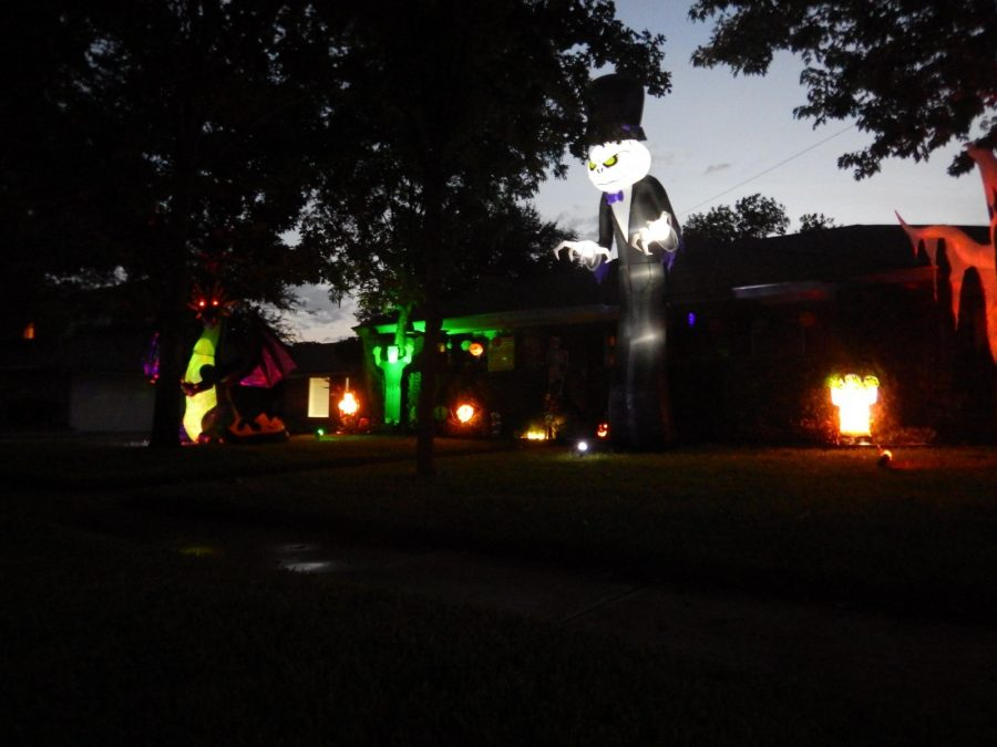 Cheyan Fites front yard frightens and entertains local trick-or-treaters every year.