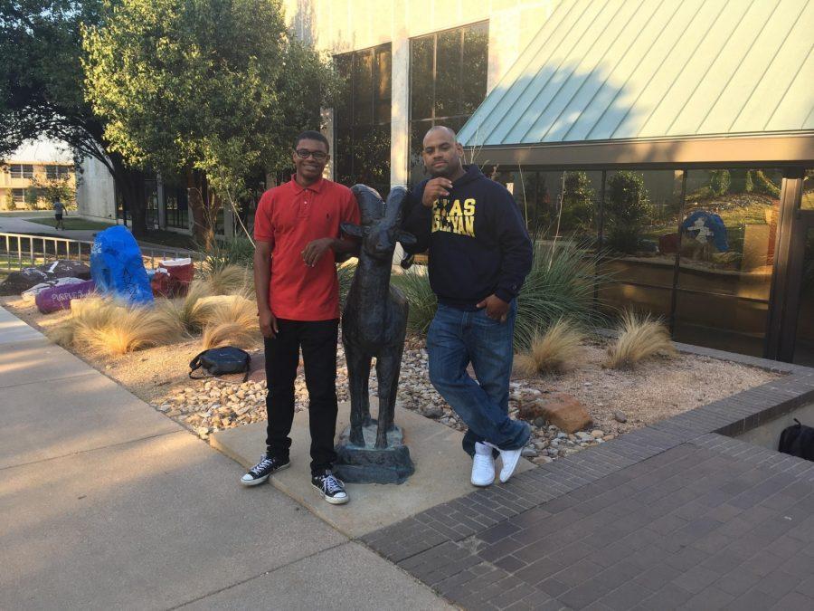Black Students Association  members Trezjon Cothran and Joshua Rivers have organized Tuesdays event at Martin Hall. Photo illustration by Karan Muns