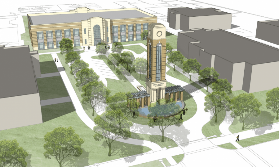 Above is an illustration of how the Nick and Lou Martin University Center will look.