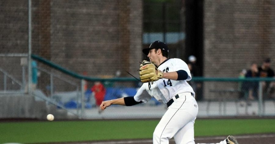 Wade Regas pitching for the Duluth Huskies this past summer.   Photo courtesy of Wade Regas