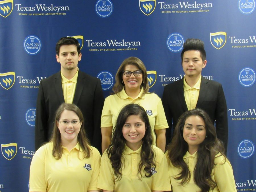 Texas Wesleyans Enactus team is pictured here during their nationals competition.