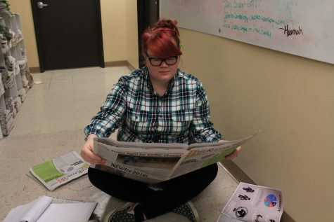 Editor-in-chief Shaydi Paramore works hard at preparing the weekly budget for an upcoming issue.