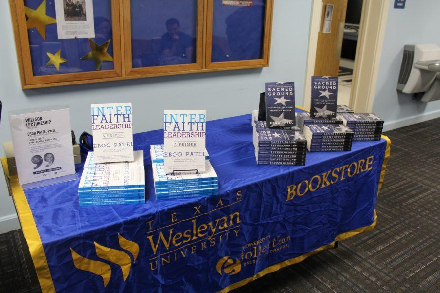 Wesleyan hosted a book signing after the event for those interested in buying Patels books. Photo by Nick Acosta