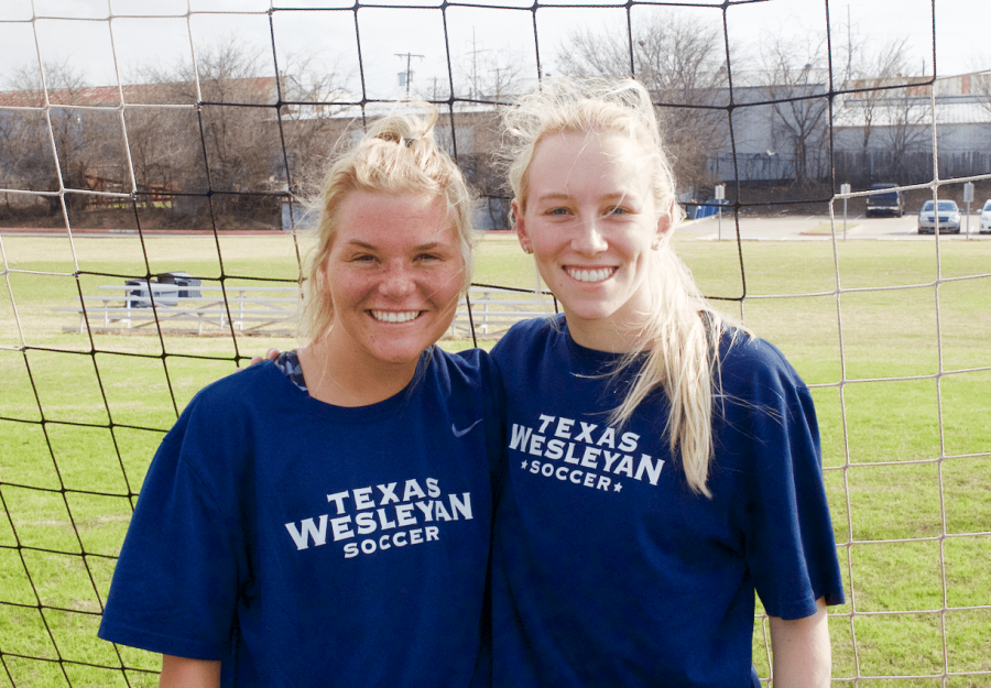 Lynzie Moore and Megan Register are two of the womens soccer teams new recruits. Photo by Chalon Anderson
