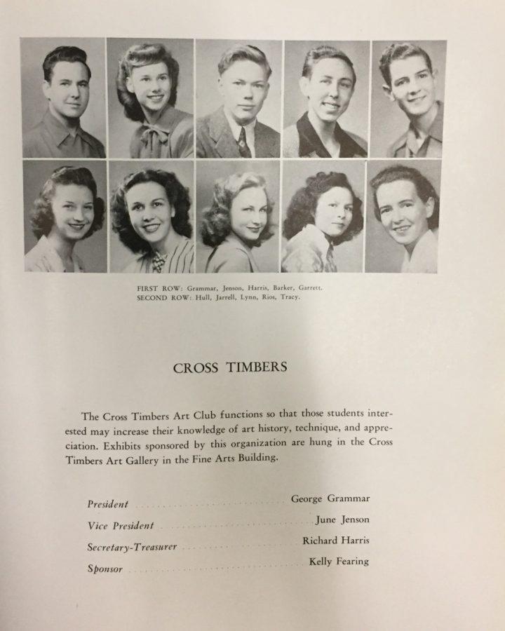 George Grammer is pictured in Texas Wesleyan Universitys 1947 yearbook.