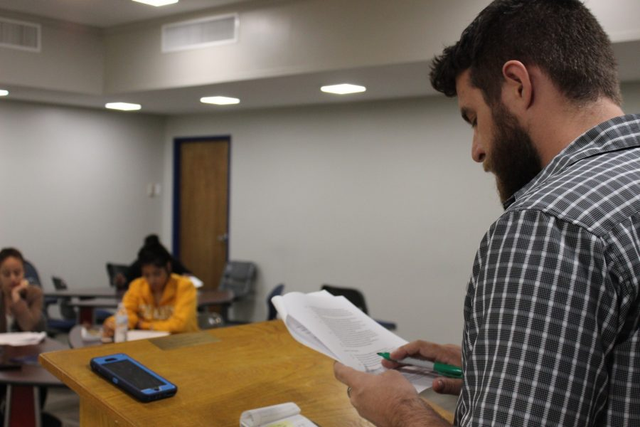 SGA Chief Justice William Wick is overseeing this years elections.  Photo by Nicholas Acosta