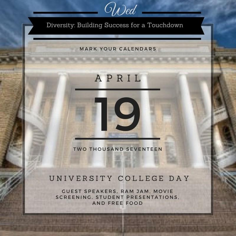 University College Day will take place all day on April 19 and Classes will be cancelled in order to encourage student and staff participation.