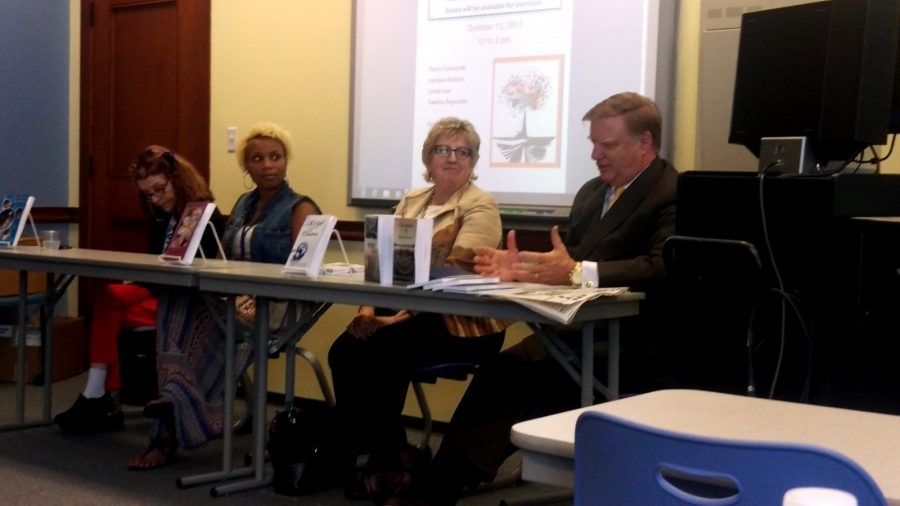 Eunice and James L. West Library hosts its second Wesleyan Local Authors Day with a brand new panel of authors. Photo by Hannah Onder