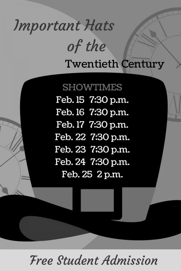 Schedule of Theatre Wesleyans Important Hats of the 20th Century