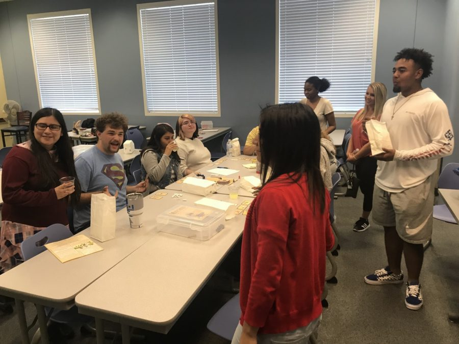Students come together at Tabletop Game Night on Thursday. Photo by Carsen Cunningham