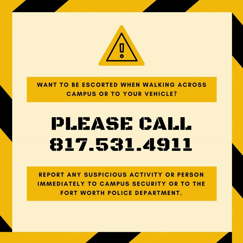 Students can call security if they see suspious activity or feel unsafe. Graphic by Tyler Shelby