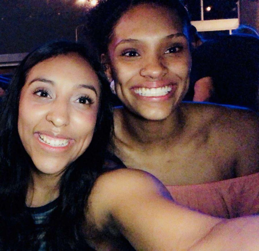 Brenda Pargas (left) and Tierra Coverson (right) smile for a selfie during a night out.  Photo contributed by Brenda Pargas.