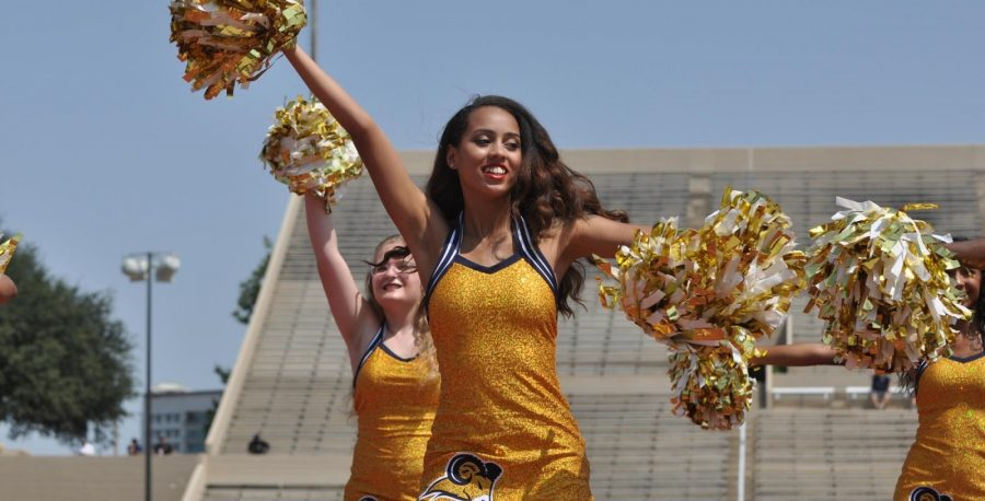 Samantha Smoot says she will be passing out programs Saturday when the Rams play Langston University at Farrington Field. Photo by Little Joe.