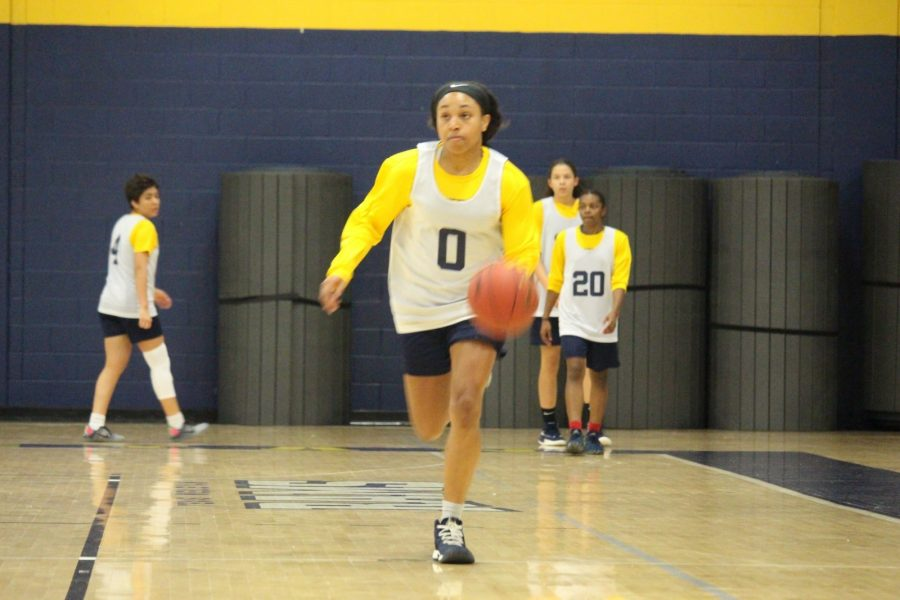 Adrianna Davis warms up during a recent practice. Photo by Thomas Moore