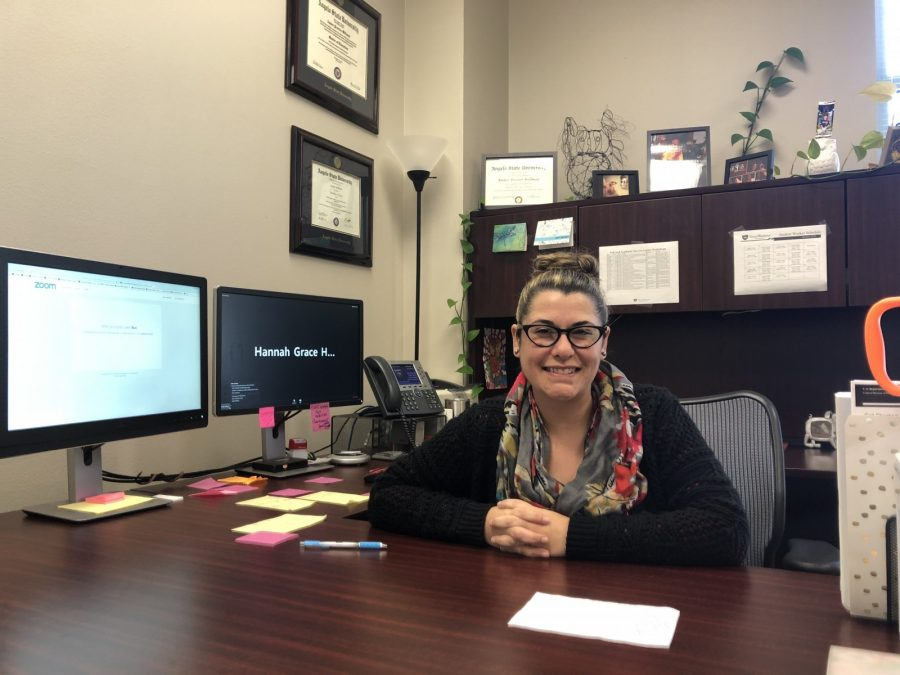 Amber Procter-Willman says that 130 students have been accepted into the online MBA program. Photo by Thomas T. Moore