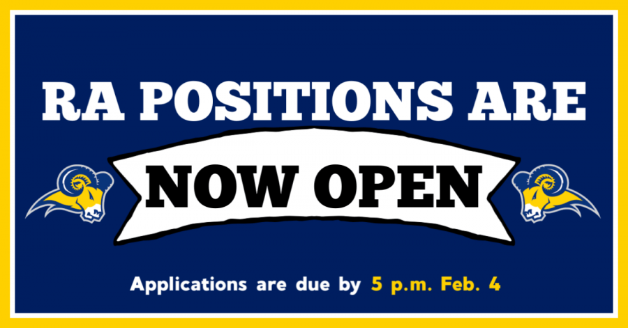 Students can apply to RAs for the 2019-2020 year until Feb. 4 at 5 p.m. There are two more information secessions on Jan. 30 and Jan. 31. Graphic by Jacinta Chan