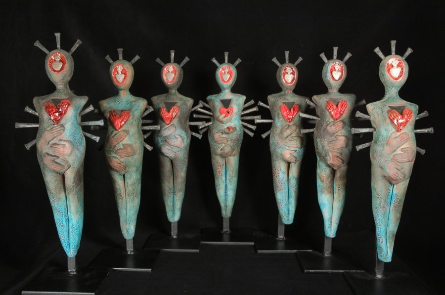 Janis Joplin and the Vestal Virgins is one of the pieces of the new Silent Covenants exhibit at the Bernice Coulter Templeton Art Studio. Photo courtesy of Kit Hall