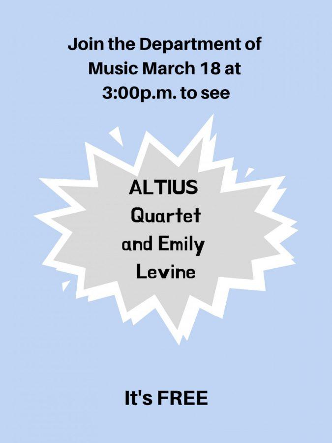 The Department of Music will host a guest recital March 18. Source: txwes.edu Graphic by Elena Maldonado