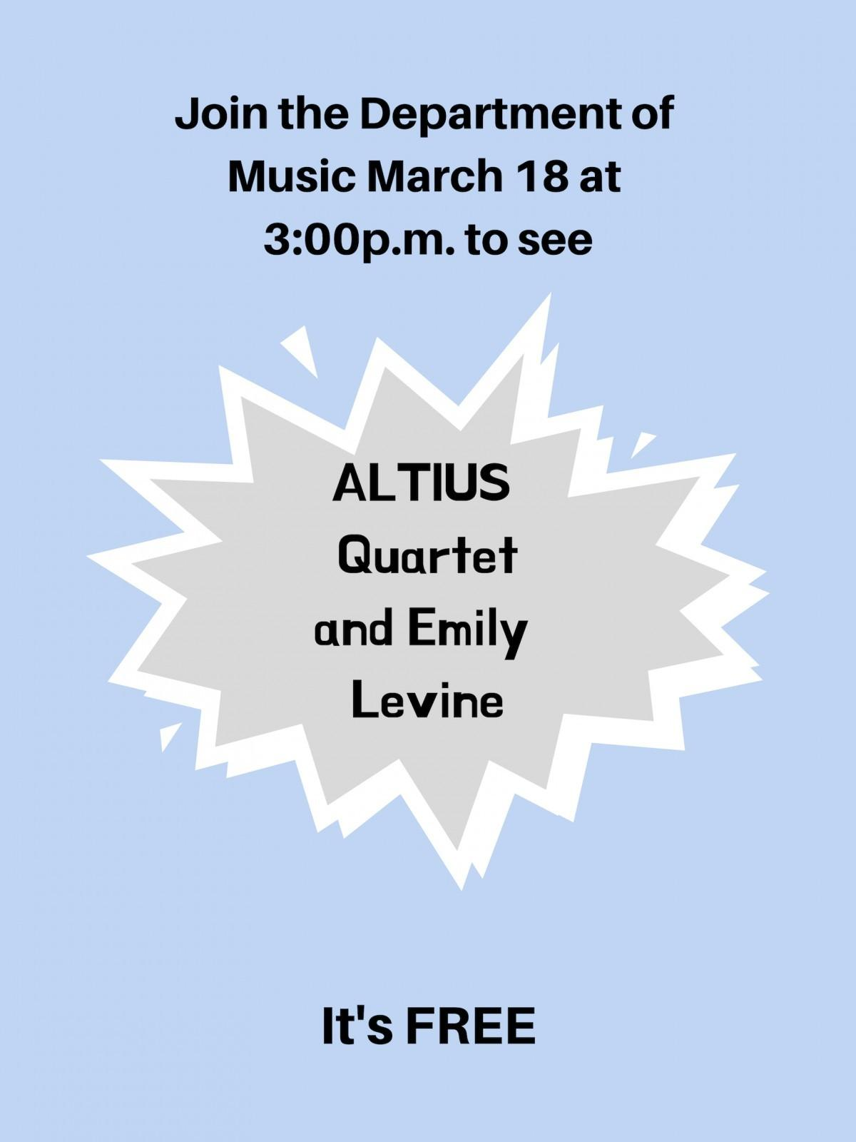 Guest recital to feature ALTIUS Quartet, principal DSO harpist