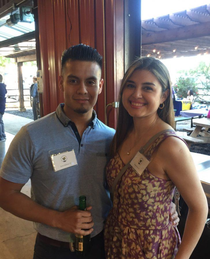 Jesus Saldana and Gisela Ponce attend their first Alumni Reunion Dinner together as a married couple. Photo by David Cason
