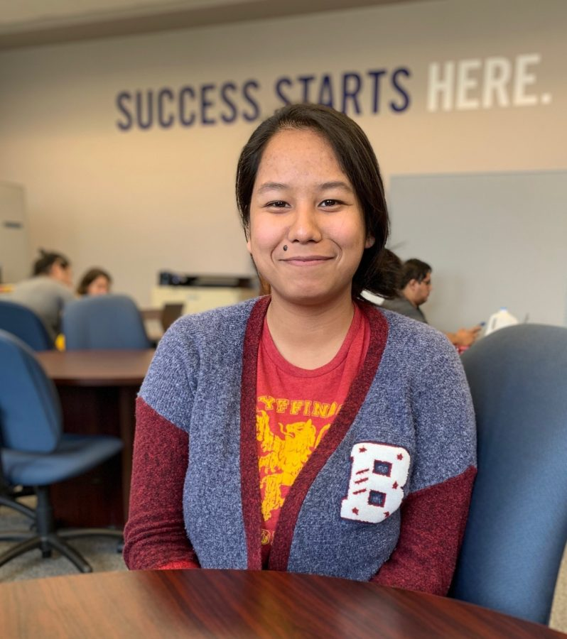 Senior business and marketing management major Nikita Dhoubhadel had been tutoring at the Academic Success Center for the last three years. Photo by Anyssa Pfeifer