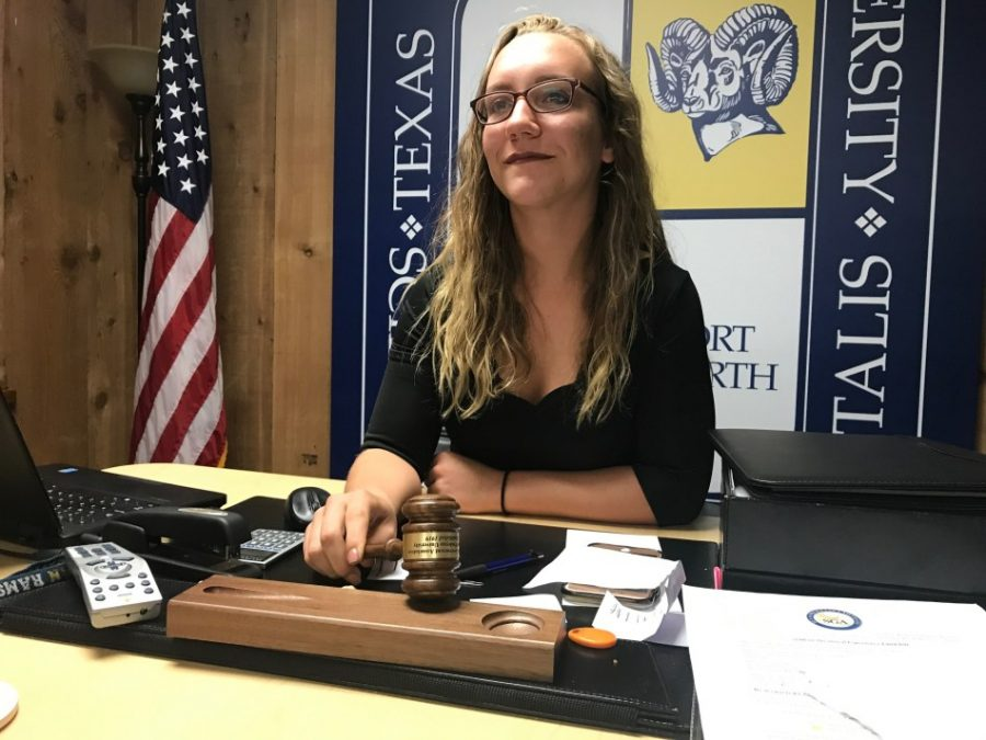 SGA President Alyssa Hutchinson will serve another term. Photo by Hannah Lathen