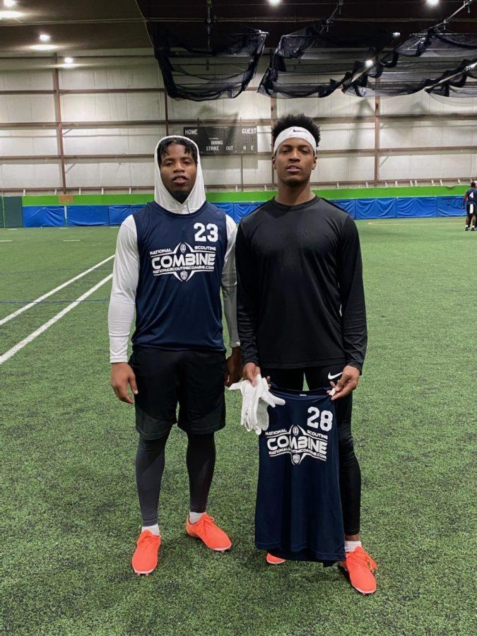 Daimand Williams and Devin Griffin at the Nation Scouting Combine. They were the only two Rams to attend.