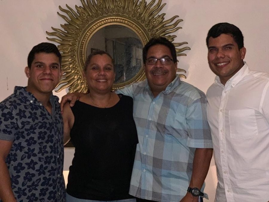 Juan Rey with his family.