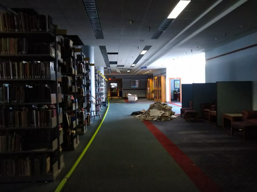 The flood seemed to start on the third floor of the library where special collections and the head librarians office are located.