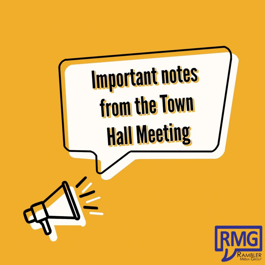 Important notes from the Townhall meeting on March 9 at Texas Wesleyan