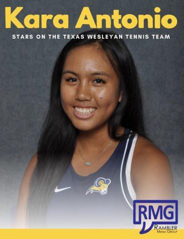 Kara Antonio stars on the Texas Wesleyan Tennis Team