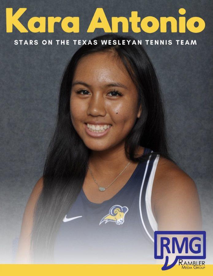 Kara+Antonio+stars+on+the+Texas+Wesleyan+Tennis+Team
