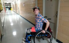 Anna Somodevilla is a resident on campus who uses a manual wheelchair to get around.